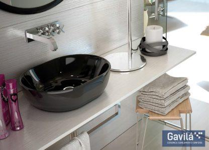 Lavabo negro Mónaco 48