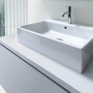 Lavabo Vero de Duravit (exento o con mueble), blanco o negro ...