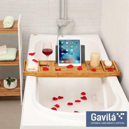 Bandeja ajustable para un baño ideal
