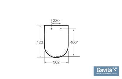 Roca-Tapa-WC-Meridian-blanco-8012AB-medidas