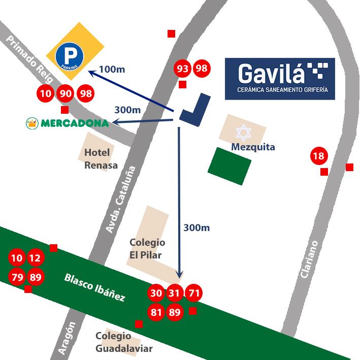 Mapa Gavilá Valencia